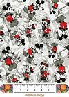 MICKEY MOUSE Vintage Comic Nursery Quilt Top Fabric Panel and Fabric U Choose