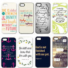 Bible Verse Case Plastic Hard Back Phone Cover For iPhone 4 4S 5 5G 5S 5C New