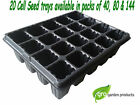 20 Cell Plant Bedding Trays Bulbs Seeds Greenhouse Allotment Herbs Growing Grow