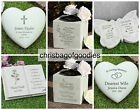 PERSONALISED REMEMBRANCE Grave Memorial Vase Ornaments Stones Plaque Pots Gifts