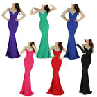 Colorful Deep V-Neck Fashion Backless New Arrivaling Evening Prom Party Dress