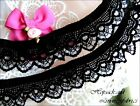 4m 2m 1m BLACK Gathered LACE Frill Stretch Dress lingerie knicker ELASTIC