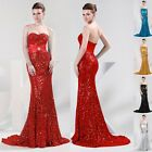 2014 GK Sequins Mermaid Bridal Prom Long Pageant Party Evening Formal Gown Dress