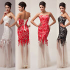 2014 Graceful Mermaid Sexy Long BeautyBall Gown Wedding Evening Prom Party Dress