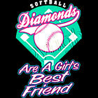 Fastpitch Softball Diamonds Are A Girls Best Friend T-Shirt All Sizes (602)