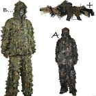 3D LEAF GHILLIE SUIT WOODLAND CAMO/CAMOUFLAGE HUNTING DEER STALKING