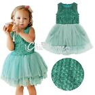 Baby Toddlers Flower Girls Rose Top Party Tulle Tutu Dance Dress Skirt Easter