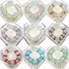 NEW LADIES SPARKLE CHARM BRACELET 9 DESIGNS/COLOURS BEADS GIFT BOXED PRESENT