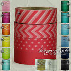 Matching Colour Set of 4 Paper Washi Masking Tape Adhesive Roll Decorative Craft
