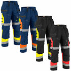 Blaklader Hi Vis Knee Pad Trousers with Nail Pockets (PolyCotton) X1500-1508