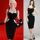 2014 Polka Dot Ladies Vintage Pinup Bodycon Party Pencil Wiggle Office Dresses