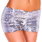 Women's Sexy Sparkling Full Costume Sequins Club Party Stretch Shorts Pants
