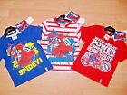 NEW BOYS SPIDERMAN SHORT SLEEVE T SHIRT NAVY WHITE RED AGES 2 3 4 5 6 7 8
