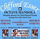 CLIFFORD ESSEX OCTAVE MANDOLA STRINGS. LIGHT GAUGE. 12 - 44. MADE IN BRITAIN.