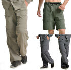 Polyester Men's Sports Travel Long Pant Shorts Quick-Drying Trousers XS  S M L