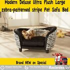 Modern Deluxe Ultra Plush Chevron Furniture Pet Sofa Bed Cushion Blue Brown GIFT