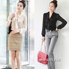 New Stylish Women Long Sleeve Bow Neck Cotton Blend Lady Casual Shirt Blouse Top