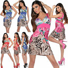 Summer Flowers Carrier Mini Dress Sexy Womens Floral Dress ONE SIZE (6/12)UK