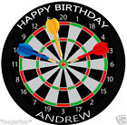 "DART BOARD  20 x 2"" or Large 7.5"" Edible Cake Toppers Rice Paper"