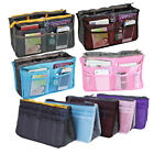 Womens Travel Insert Handbag Organizer LARGE LINER Makeup Purse Tidy Bag Pockets