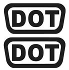 2X DOT VINYL STICKERS HELMENT PACK SHIPPING BIKE D.O.T. MOTOCYCLE CHOOSE COLOR