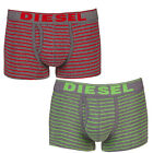 DIESEL Fresh & Bright New Boxer Trunk in Box Grey, Red or Green Stripes Size XXL