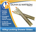 60kg Locking Drawer Slides / Runners - Lengths 350mm to 800mm Draw Trailer