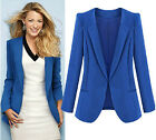 New womens spring blazer Slim fit S-4XL OL's Coat Cotton blend jacket Freeship