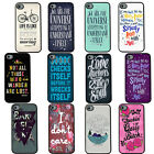 Life Quote Hard Plastic Back Black Case Cover For Apple iPhone 4 4S 5 5S 5C