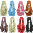 80cm Curly Fashion Long Anime Lady Girl Lovely Cosplay Party Hair Full Wig Gift