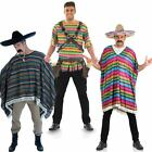 Mens Mexican Fancy Dress Costume - Mad Gringo Outfit / Poncho Wild West Outfits