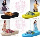 Womens Summer Flip Flops Thong Wedge Beach Sandals Slippers Slip On Shoes 303
