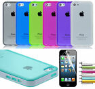 Colorful Heavy Duty Hybrid Rugged Hard Case Cover For iPhone 5C C+Stylus+Film