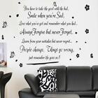 Life Goes On Art Vinyl Quote Wall Stickers Removeable Decals Mural Home Decor