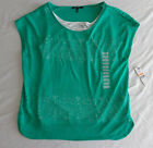 NWT Women's CHAUS Sport Short Sleeve Lace Shirt Tank Top Multi Colors & Sizes