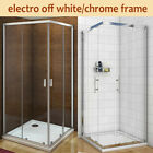 Shower Enclosure Corner Entry Sliding Glass Cubicle Stone Tray Waste NEXTDAY DEL