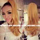 """21""""/50cm Wavy One piece hair extensions Wrap around tie up colorful ponytail"""