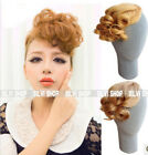 Curly One piece hair extensions Fashion Party Clip on Bangs/Fringes B300