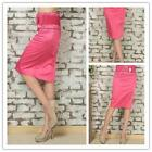 Middle Skirts Pink Waist Belt Pattern Cotton Blended Tube Sexy Elegant Women