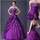 Sexy A-Line Evening Formal Party Prom Dress Long Wedding Bridesmaid Bridal Dress