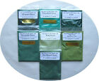 Cosmetic Grade Mica Powders-15 g = 0.5 oz Bags-Shades of Green-7 Choices