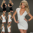 New Sexy Women Summer Mini Party Casual Bodycon Stretch Party Dress UK size 8/10