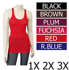 MANY COLORS Straps Racerback Plus Tank Top Size 1X 2X 3X