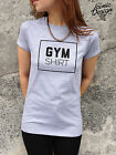 * GYM SHIRT T-shirt Top Gym Workout Weight Lifting Fitness Body Building Muscle*