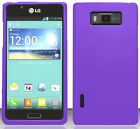 PURPLE Snap-On Case Hard Cover for LG Optimus Select AS730
