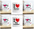 PERSONALISED I HEART LOVE YOU Name Novelty MUG unique Romantic Gifts for Him Her