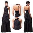 Womens Long Sexy Halter Bridesmaid Formal Pageant Prom Ball Evening Gown Dresses