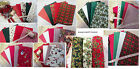 christmas fat quarter bundles 100 % cotton Plain, patterned,tartan, bunting etc
