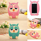 3D Cute Lovely Cartoon Animal Owl Soft Silicon Back Case Cover For iPhone 5 5S