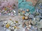 BUTTONS - MIXED SHABBY CHIC VINTAGE STYLE. 75 GRAMS, METALLIC, PEARL, BRIDAL.